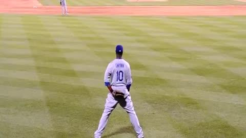 Baseball Player Deals With Hecklers