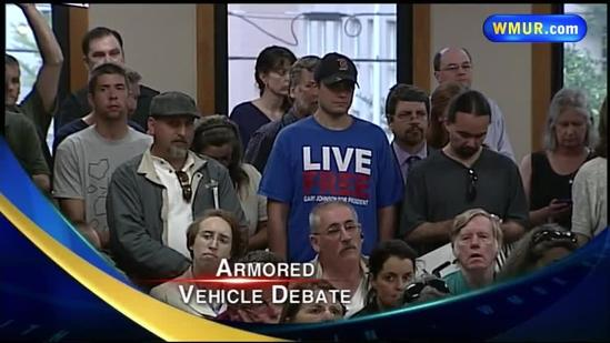 Concord armored vehicle application draws protest