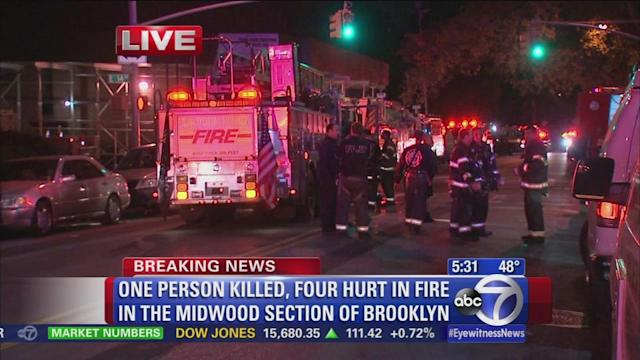 1 dead, 1 critical in Midwood fire