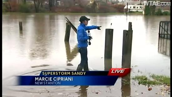 Westmoreland County sees flooding from Sandy