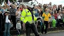 Dancing Cop Entertains Olympic Crowd