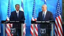 John Boehner meets with Benjamin Netanyahu in Israel