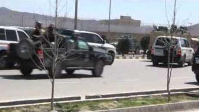 Aftermath of Attack at Electoral Commission in Kabul