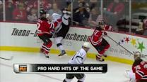 Marek Zidlicky sends Dustin Brown airborne