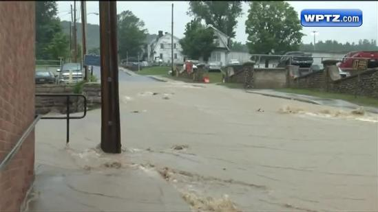 Rains flood North Country in unlikely places