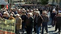 Greek pensioners protest over pension cuts, health care access