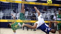 Footvolley Players Hope to Win Over Soccer Fans