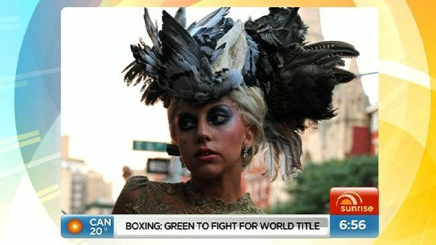 Gaga steps out in pigeon hat