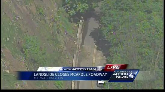 Slide with rocks, mud closes McArdle Roadway