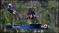 Disabled teen's zipline wish fulfilled