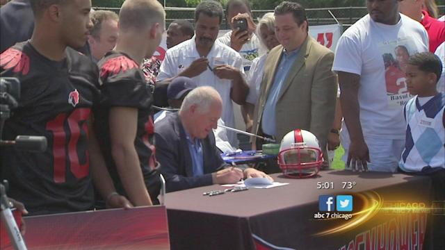 Student athlete insurance for catastrophic coverage signed by Gov. Pat Quinn in memory of Rocky Clark