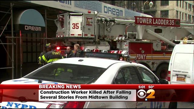 Construction Worker Killed In Fall From Midtown Work Site