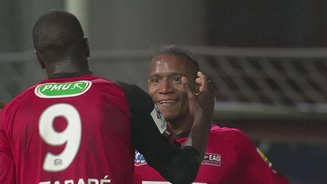 Guingamp into French Cup semis beating Cannes