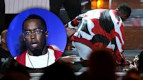 Sean Diddy Combs Falls in Hole During Bad Boy Reunion - BET Awards 2015