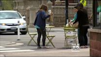 Lakeview Streetscape: Tables On Street, Polka Dots On Sidewalks