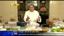 Famed Chef Emeril Lagasse serves up Super Bowl menu