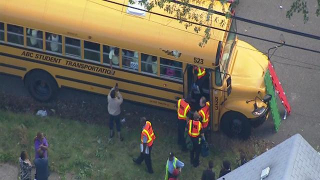 Crews respond to school bus accident on Detroit's west side