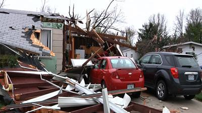 Cleanup After Tornado Touches Down Near St Louis