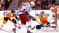 Flyers even series with 2-1 win over Rangers