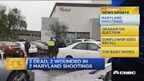 CNBC update: 2 dead, 2 wounded in 2 Maryland shootings