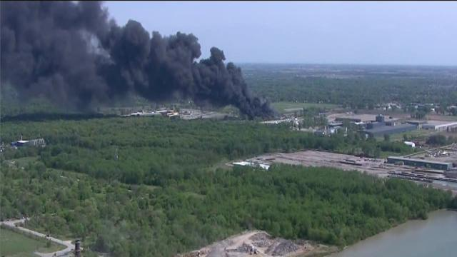 Windsor recycling plant fire