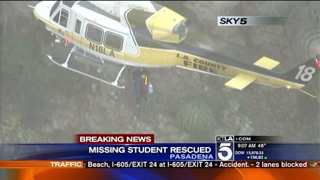 Missing Student Rescued in San Gabriel Mountains