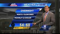 Comfortable conditions expected Thursday