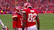 Kansas City Chiefs quarterback Alex Smith sets up wide receiver Dwayne Bowe to go for 37 yards