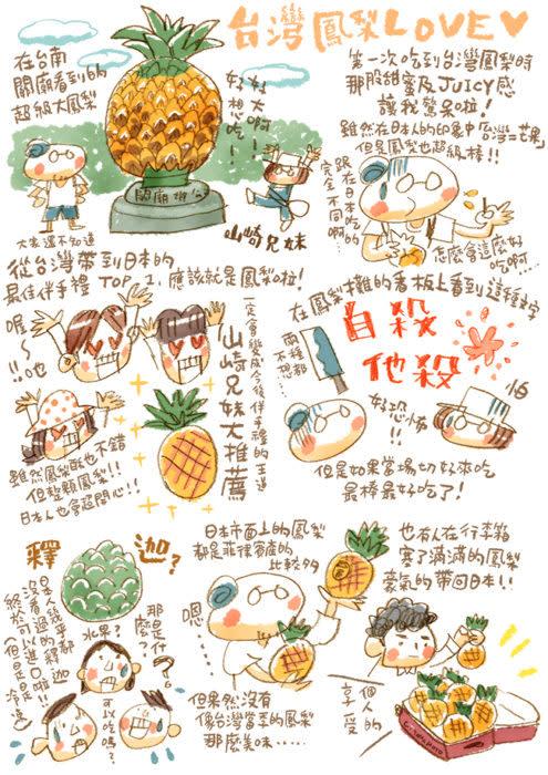 山崎兄妹為大家介紹自10月1日起帶鳳梨入境日本的新規定