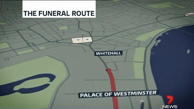 Thatcher funeral route outlined