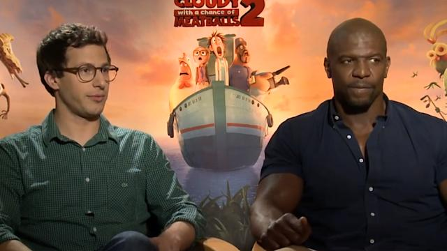 ANDY SAMBERG, BILL HADER, & MORE TALK CLOUDY WITH A CHANCE OF MEATBALLS 2 - ANDY ANDY SHOW