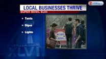 Local businesses cash in during Super Bowl preparations