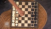 Jeff Takes On a Young Chess Champion