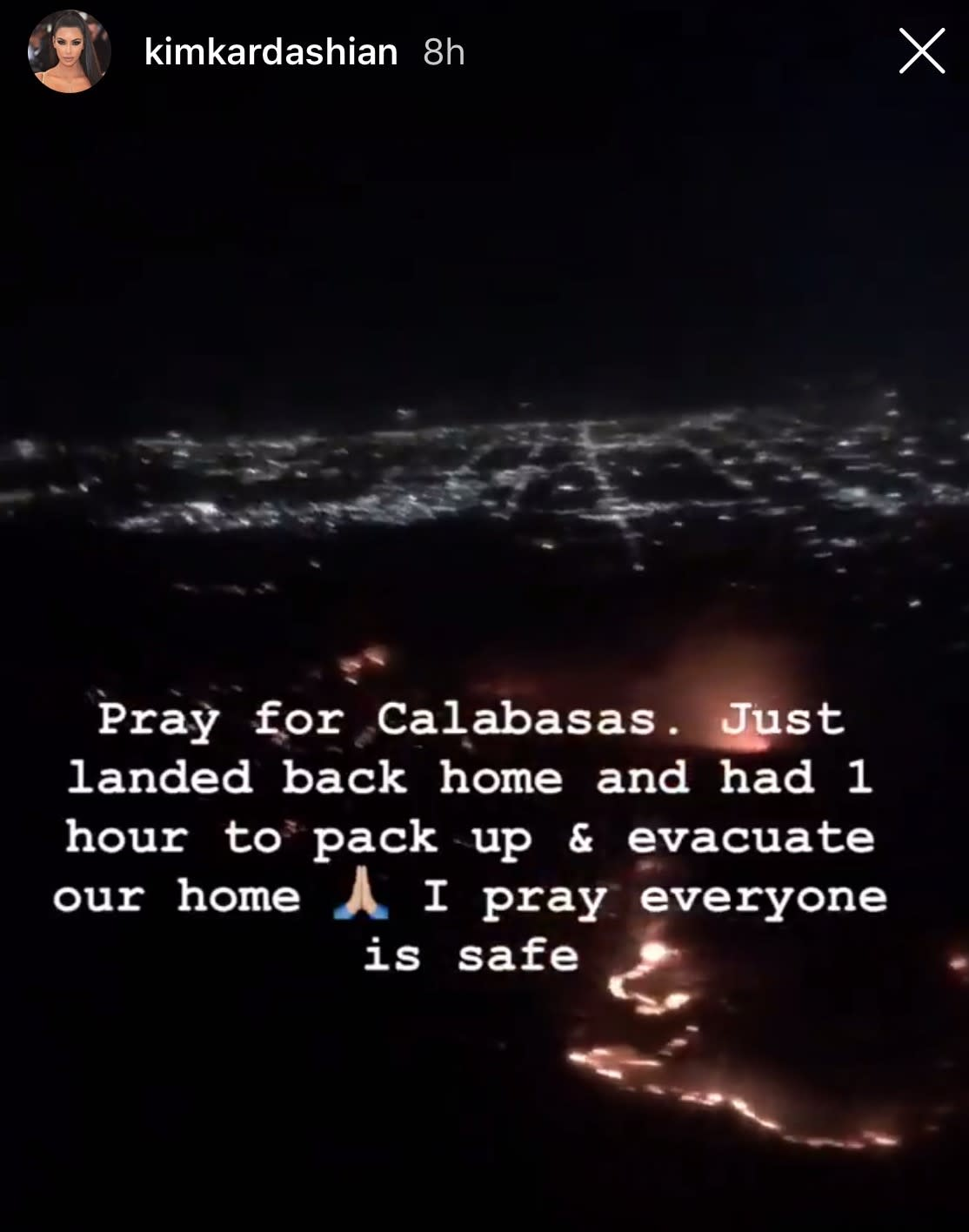Kim Kardashian And Her Children Forced To Evacuate Home Following Wildfire