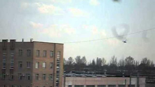 Military Helicopters Fly Over Kramatorsk