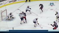 MacKenzie pushes a one-timer past Miller