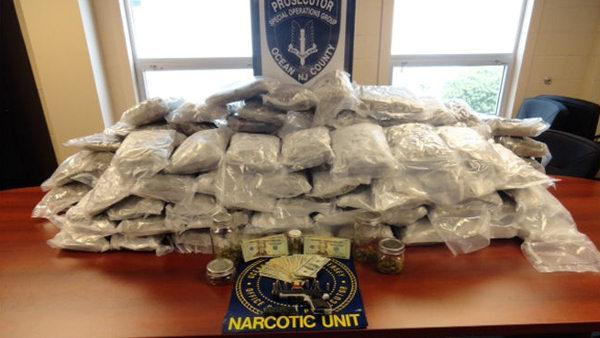 140 pounds of marijuana, $500K, 10 arrests in NJ bust