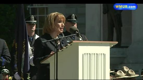 Raw Video: Gov. Hassan honors Arkell, other fallen officers