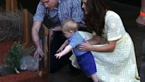 Prince George visits Sydney zoo, performs first official duty