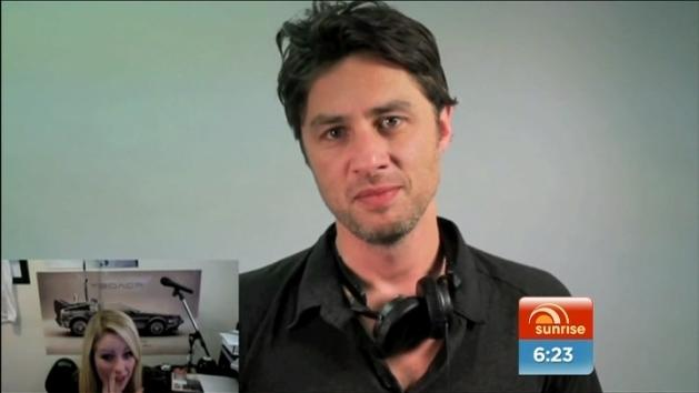 Zach Braff helps with marriage proposal