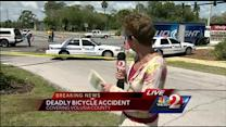 Bicyclist dies in crash on way to job interview