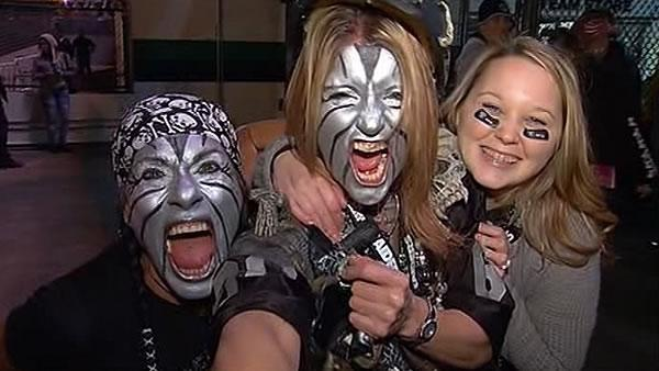 Raiders fans show off their spirit for big game