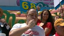 Joey Chestnut Wins Nathan's Hot Dog Eating Contest