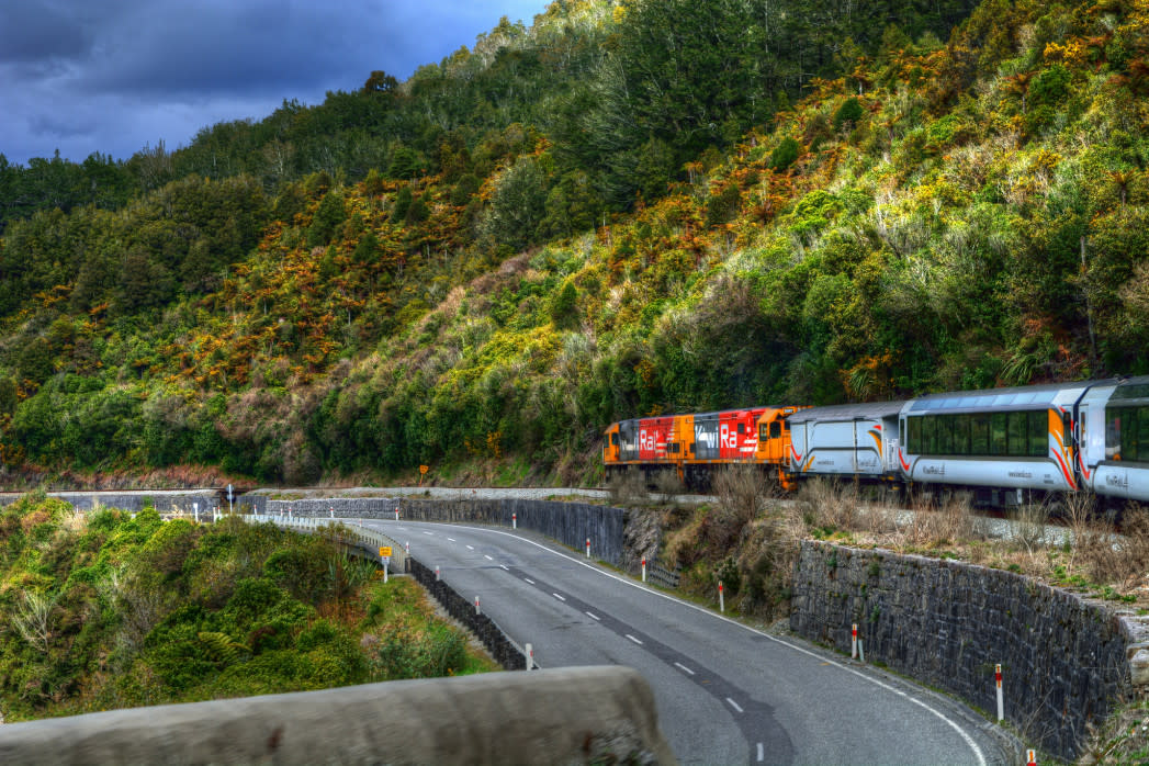 The TranzAlpine train