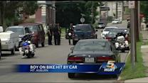 Boy in critical condition after being struck by vehicle in Mt. Auburn