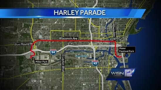 Harley parade will shut down streets in one Milwaukee neighborhood