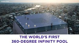 The world's first 360-degree infinity pool is set to start construction in  2020 in London