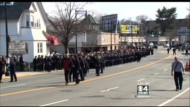 Crowds Gather To Pay Respects At Wake For Firefighter Michael Kennedy
