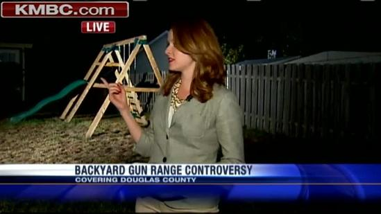 Man's backyard firing range causes controversy
