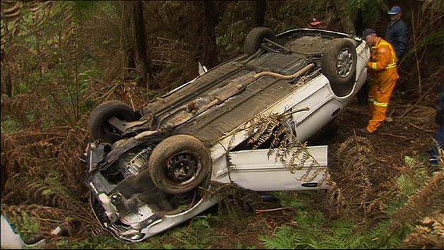 Driver's miracle escape after cliff plunge